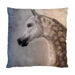 Grey Arabian Horse Standard Cushion Cases (two Sides)  by TwoFriendsGallery