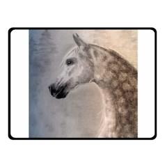 Grey Arabian Horse Fleece Blanket (small) by TwoFriendsGallery