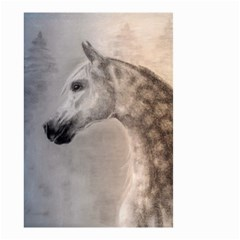 Grey Arabian Horse Small Garden Flag (Two Sides) by TwoFriendsGallery