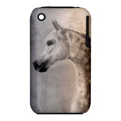 Grey Arabian Horse Apple Iphone 3g/3gs Hardshell Case (pc+silicone) by TwoFriendsGallery