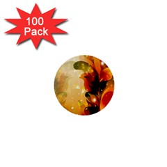Awesome Colorful, Glowing Leaves  1  Mini Buttons (100 Pack)  by FantasyWorld7