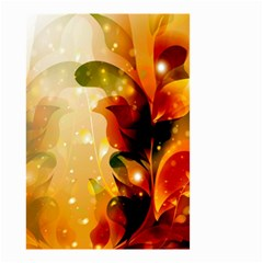 Awesome Colorful, Glowing Leaves  Small Garden Flag (Two Sides) by FantasyWorld7