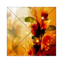 Awesome Colorful, Glowing Leaves  Acrylic Tangram Puzzle (6  x 6 ) by FantasyWorld7