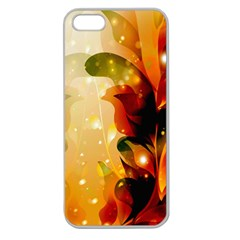 Awesome Colorful, Glowing Leaves  Apple Seamless Iphone 5 Case (clear) by FantasyWorld7
