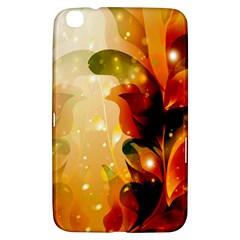 Awesome Colorful, Glowing Leaves  Samsung Galaxy Tab 3 (8 ) T3100 Hardshell Case  by FantasyWorld7
