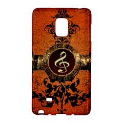 Wonderful Golden Clef On A Button With Floral Elements Galaxy Note Edge by FantasyWorld7