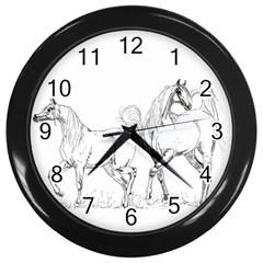 Logosquare Wall Clocks (black) by TwoFriendsGallery