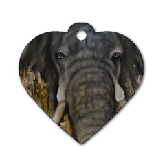 In The Mist Dog Tag Heart (two Sides) by timelessartoncanvas