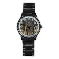 In The Mist Stainless Steel Round Watches by timelessartoncanvas