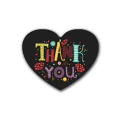 Thank you Drink Coasters (Heart) by typewriter