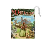 Village Cubes bag - Drawstring Pouch (Medium)