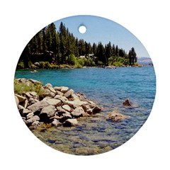Nevada Lake Tahoe  Round Ornament (Two Sides)  by TwoFriendsGallery