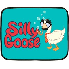 Silly Goose Mini Fleece Blanket (single Sided) by Ellador