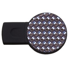 Metal Weave Blue Usb Flash Drive Round (2 Gb)  by MoreColorsinLife