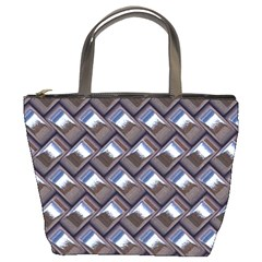 Metal Weave Blue Bucket Bags by MoreColorsinLife