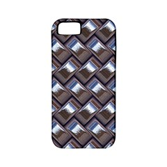 Metal Weave Blue Apple Iphone 5 Classic Hardshell Case (pc+silicone) by MoreColorsinLife
