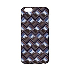 Metal Weave Blue Apple iPhone 6/6S Hardshell Case by MoreColorsinLife