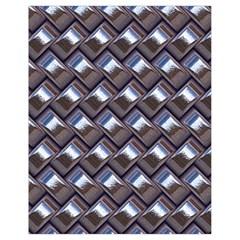 Metal Weave Blue Drawstring Bag (small) by MoreColorsinLife