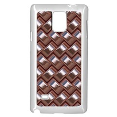 Metal Weave Pink Samsung Galaxy Note 4 Case (White) by MoreColorsinLife