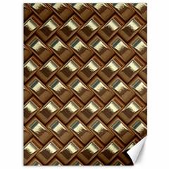 Metal Weave Golden Canvas 36  X 48   by MoreColorsinLife