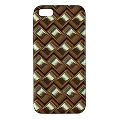 Metal Weave Golden Apple Iphone 5 Premium Hardshell Case by MoreColorsinLife