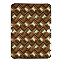 Metal Weave Golden Samsung Galaxy Tab 4 (10 1 ) Hardshell Case  by MoreColorsinLife