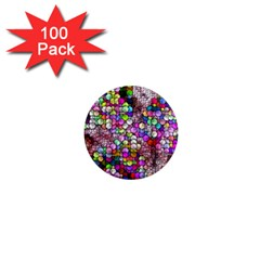 Artistic Cubes 3 1  Mini Magnets (100 Pack)  by MoreColorsinLife