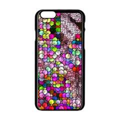 Artistic Cubes 3 Apple iPhone 6/6S Black Enamel Case by MoreColorsinLife