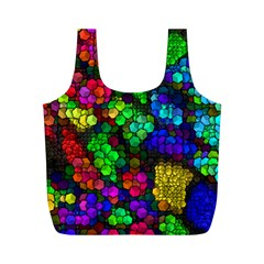 Artistic Cubes 4 Full Print Recycle Bags (m)  by MoreColorsinLife