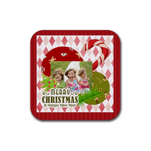 Xmas By Xmas   Rubber Coaster (square)   3f6zlhk0foxm   Www Artscow Com Front