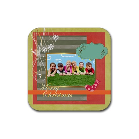 Xmas By Xmas   Rubber Coaster (square)   1q03ul87xg5s   Www Artscow Com Front