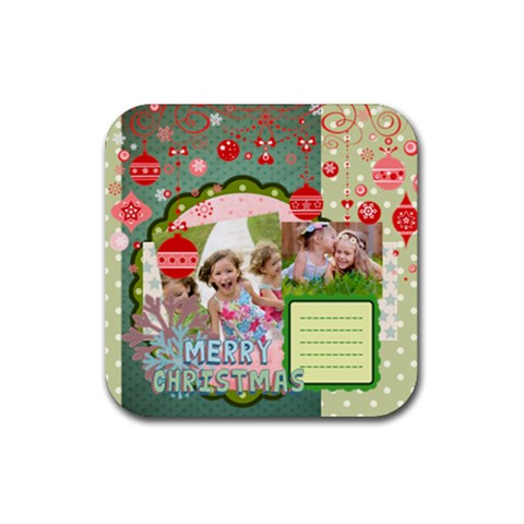 Xmas By Xmas   Rubber Coaster (square)   Wghqj43z58cn   Www Artscow Com Front