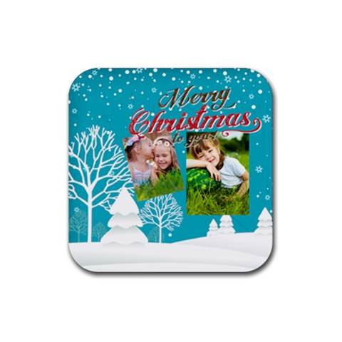 Xmas By Xmas   Rubber Coaster (square)   Vfnlcyt77peq   Www Artscow Com Front