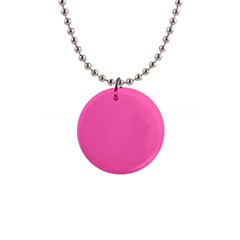 Hot Pink Button Necklace by 4SeasonsDesigns