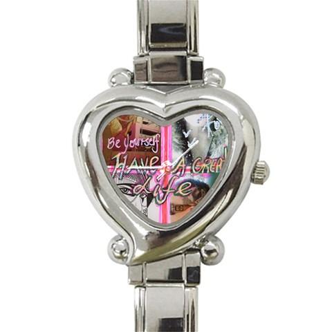 Heart Watch By Sally O keeffe   Heart Italian Charm Watch   Ka3069mrn5fc   Www Artscow Com Front