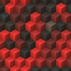 Artistic Cubes 7 Red Black Magic Photo Cubes