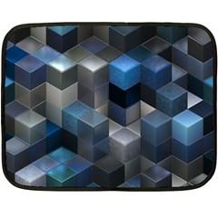 Artistic Cubes 9 Blue Fleece Blanket (mini) by MoreColorsinLife
