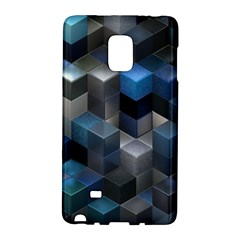 Artistic Cubes 9 Blue Galaxy Note Edge by MoreColorsinLife