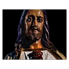 Jesus Christ Sculpture Photo Rectangular Jigsaw Puzzl by dflcprints