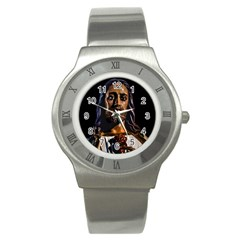 Jesus Christ Sculpture Photo Stainless Steel Watches by dflcprints
