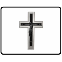Christian Cross Double Sided Fleece Blanket (medium) by igorsin