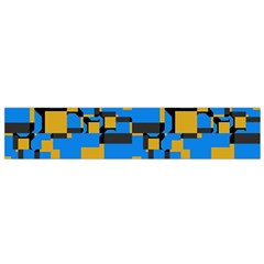 Blue Yellow Shapes Flano Scarf by LalyLauraFLM