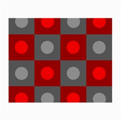 Circles In Squares Pattern Small Glasses Cloth (2 Sides) by LalyLauraFLM