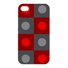 Circles In Squares Pattern Apple Iphone 4/4s Hardshell Case by LalyLauraFLM