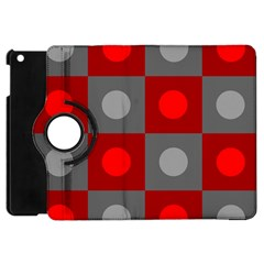 Circles In Squares Pattern Apple Ipad Mini Flip 360 Case by LalyLauraFLM