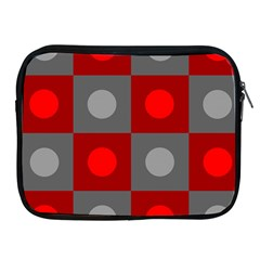 Circles In Squares Pattern Apple Ipad 2/3/4 Zipper Case by LalyLauraFLM