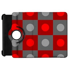 Circles in squares pattern	Kindle Fire HD Flip 360 Case by LalyLauraFLM