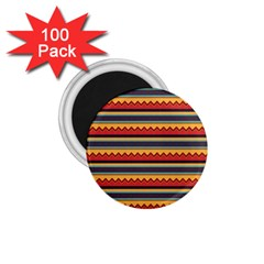 Waves And Stripes Pattern 1 75  Magnet (100 Pack)  by LalyLauraFLM