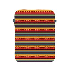 Waves And Stripes Pattern Apple Ipad 2/3/4 Protective Soft Case by LalyLauraFLM