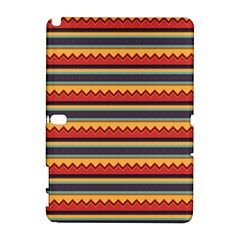 Waves and stripes pattern Samsung Galaxy Note 10.1 (P600) Hardshell Case by LalyLauraFLM